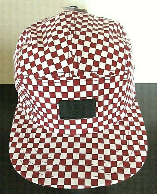 f53649d746 Vans Shoes Mens Davis 5 panel Checkerboard Red White Strap back hat cap NWT