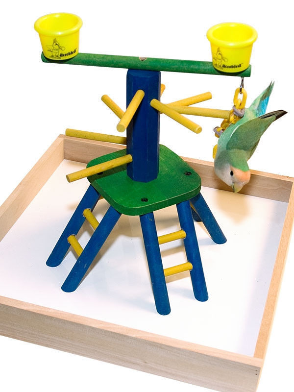 Parred Bird Perch Play Gym Stand Table Top  Pyramid Perch