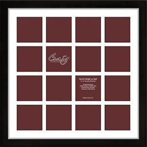 Craig Frames 1wb3bk 18x18 Black Frame White Matting16 Openings For