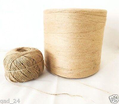 Natural jute Fil Chaîne Cordon Ruban Fil Ficelle Arts /& Crafts Cadeau Warp Brown