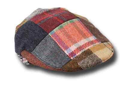 Berretto irlandese 8 spicchi Hanna Hats Connery tweed Cap Grigio medio