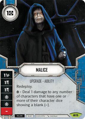 Star Wars Destiny Convergence ~ Malice #15 w// Die