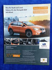 Subaru XV Kompakt-SUV - Werbeanzeige Reklame Advertisement 2012 __ (223
