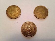1982-1991-1993 Chucky Cheese Coins Collectible Lot Of 3