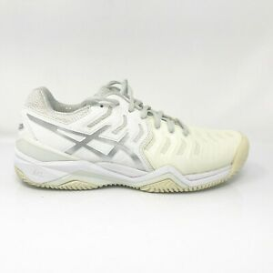 Asics-Womens-Gel-Resolution-7-E752Y-White-Running-Shoes-Lace-Up-Low-Top-Size-8-5