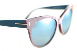 Tom-Ford-Saskia-330-89X-Femmes-Lunettes-de-soleil-yeux-de-chat-rayure-rose