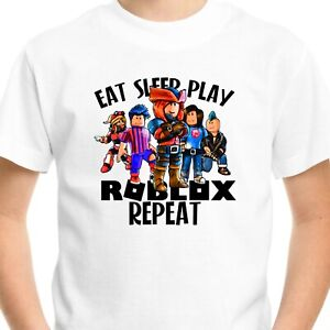 ROBLOX Kids T-Shirt Top Gift Birthday Boys Girls Men Gamer Gaming Funny Eat V2