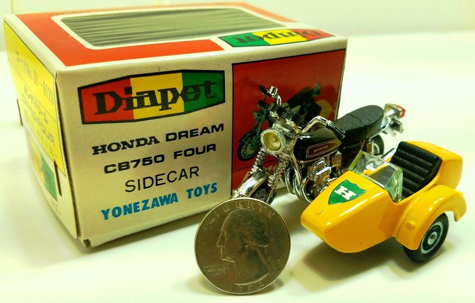 Vintage YONEZAWA toys-DIAPET HONDA 1 30 CB750 Moto avec side-car