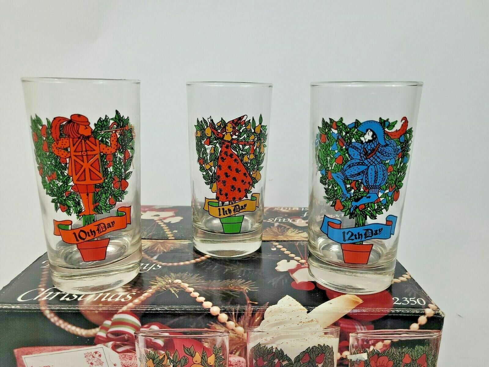 Twelve Days Of Christmas 5th Day Indiana 2350 Drinking Glass Tumbler 12 Oz For Sale Online Ebay