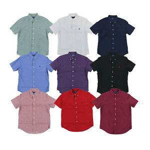 Polo-Ralph-Lauren-Mens-Oxford-Buttondown-Classic-Shirt-Short-Sleeve-S-M-L-Xl-Xxl
