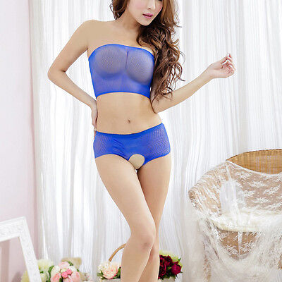 Black Blue Sexy Bodystocking Suits Playsuit Dress Cosplay Adult Toys Catsuit