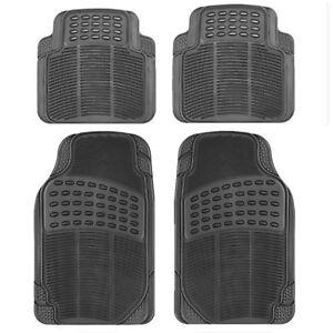 4-Pcs-Set-Durable-Universal-Black-Rubber-Car-Mat-Set-Non-Slip-Grip-Van-Mats