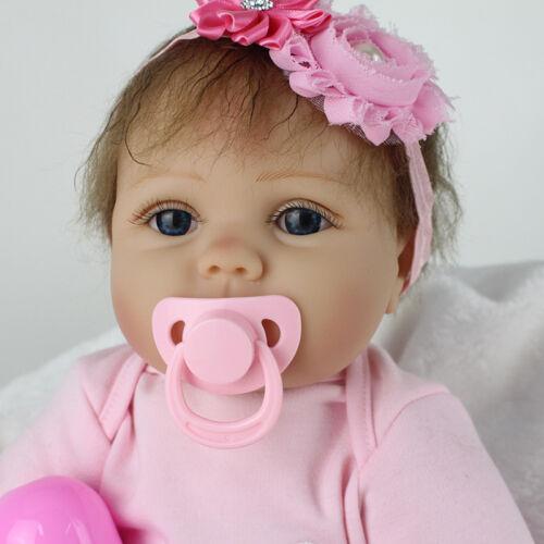 22'' Alive Reborn Baby Doll Toy Lifelike Soft Vinyl Newborn Nursery Kids Gifts