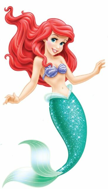 Little Mermaid Ariel Princess Iron On Transfer - Kids Crafts Gift 17x10cmms