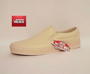 Dettagli su Vans crema Vera Pelle Classic Slip On Scarpe Da Uomo UK 10.5 mostra il titolo originale