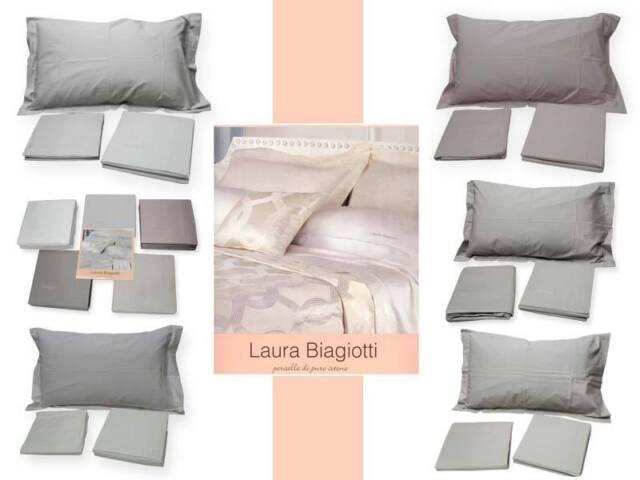 Lenzuola matrimoniale Tinta unita cotone percalle Laura Biagiotti ...