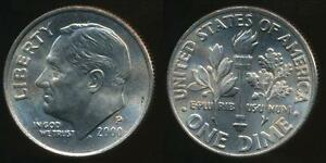 United-States-2000-P-Dime-Roosevelt-Uncirculated