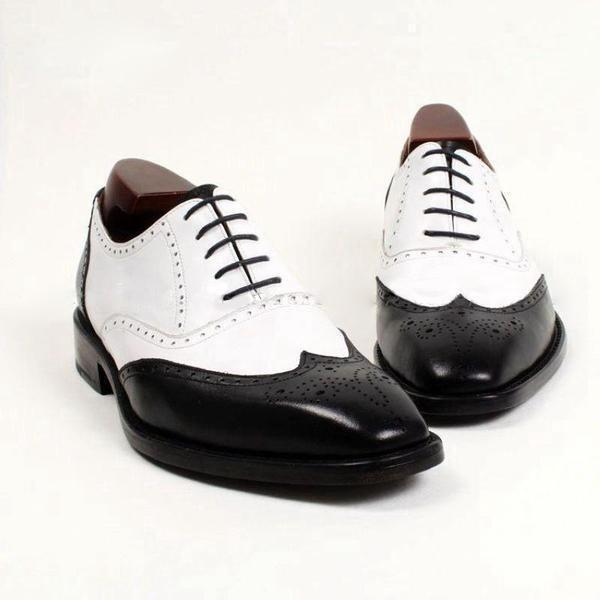 Handmade Formal schuhe Mens Mens Mens two tone schuhe, Men spectator schuhe, Men dress schuhe 618699
