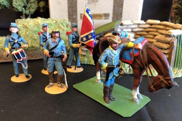Alymer Toy Soldiers 241 Grupo Americano Sur Confederate Cavalry Coronel 1861