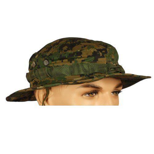 Cappello da sole Twill in policotone banda di sudore NUOVO BULLE Woodland Digital Camo Boonie Hat
