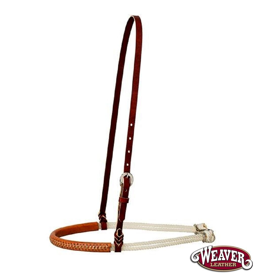 Double Rope Noseband w Rawhide Laced Leather Nose Weaver Leather Free Shipping