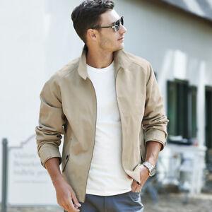 Samuel Windsor Mens Harrington Jacket Casual Coat Light Summer Wear