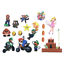 Super Mario Brothers Decal Stickers Random Assorted Lot Of 29 Pieces