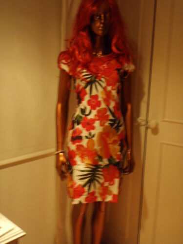 New top quality Boden floral lined red cotton /& lace dress RRP £59 FREE P /& P