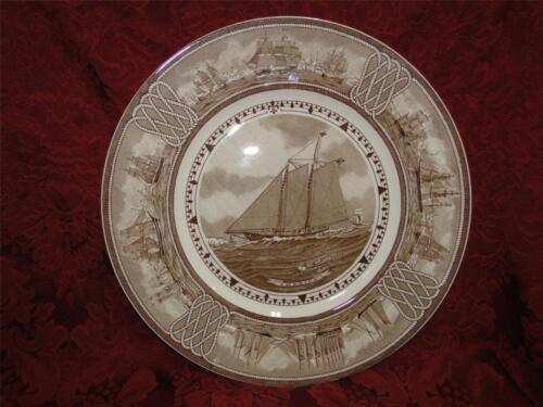 """Wedgwood American Sailing Ships, George Wales: America Plate, 10 1/2"""""""