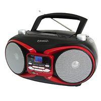 Portable Mp3 Cd Player Am/fm Radio Boombox W/ Usb Aux-in Input Ac/dc