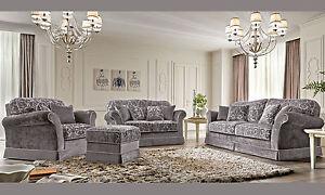 Polstermöbel Italien Hersteller luxus sofa sessel 3 2 1 sitzer polster stoff klassische stil möbel