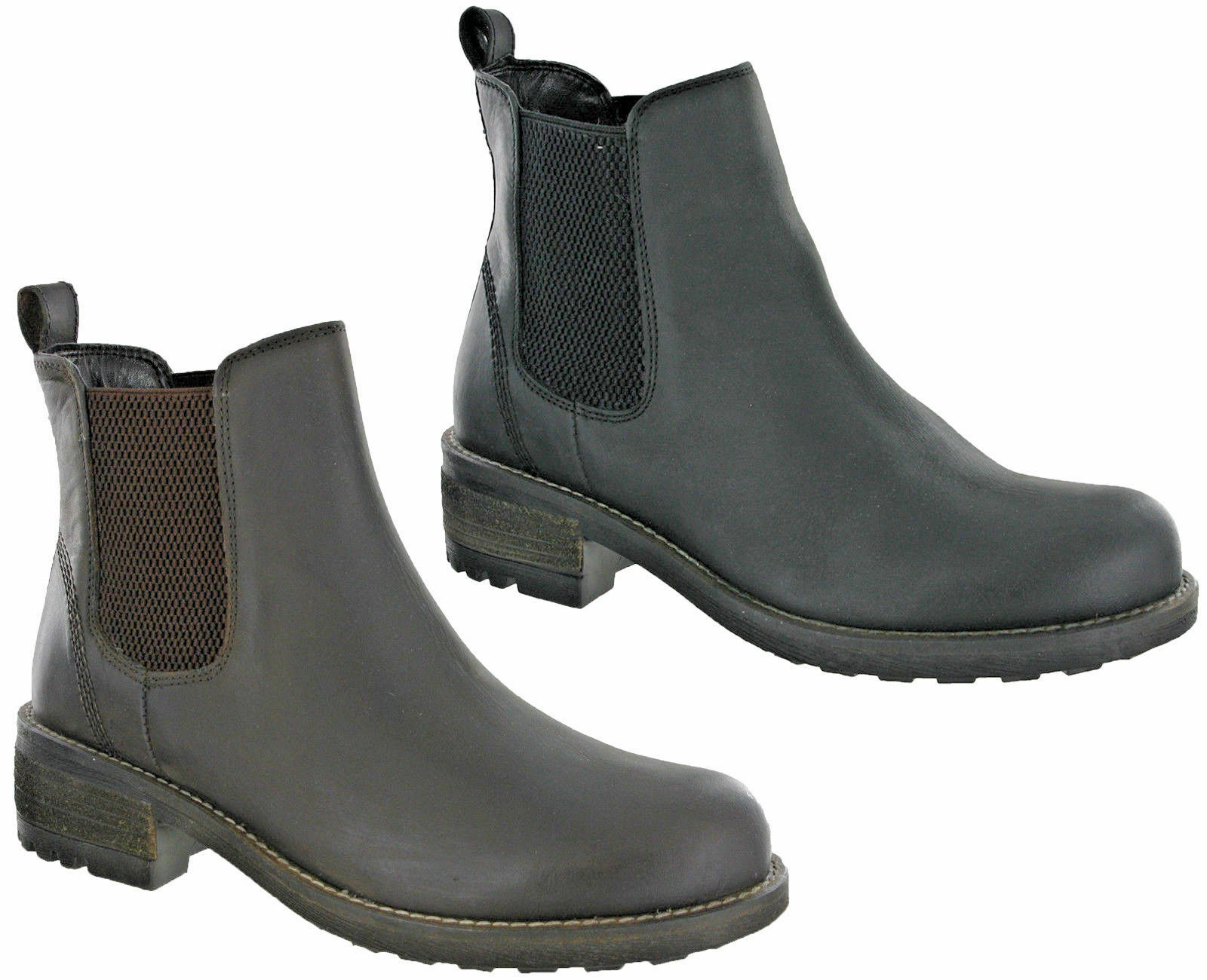 Cipriata Chelsea Leder Dealer Stiefel Twin Gusset Horse Riding Pull On Damenschuhe