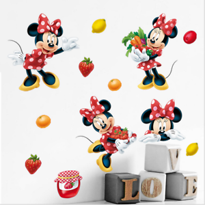 Details About Minnie Mouse Children S Room Warm Wall Painting Bedroom Waterproof Stickers