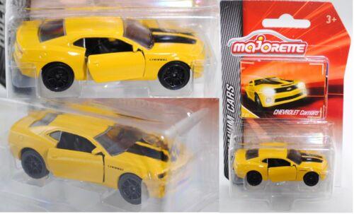 Majorette 212053052 Chevrolet Camaro Coupe amarillo sammlerflyer 1:62 premium Cars