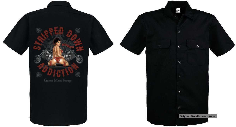 Worker Shirt Vintage-,HD-, Biker -,Chopper-& OldSchoolmotiv Modell Stripped Down