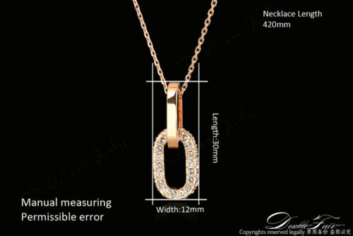 Double Rounds Cubic Zirconia Paved Chain Necklace /& Pendant Fashion Jewelry