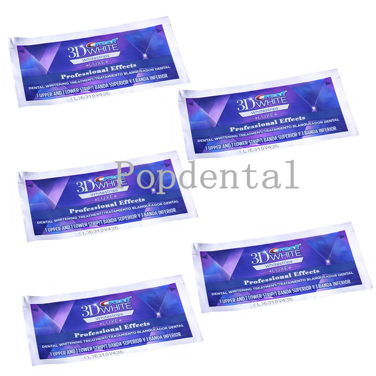 5x Dental Crest 3d White Luxe Whitestrips Teeth Whitening Oral