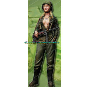 Unpainted-1-16-Scale-120mm-Garage-Kits-Resin-Female-Soldier-Figure-Model-Statue