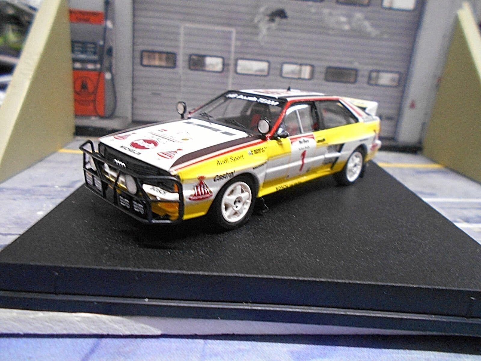 Audi Quattro Rallye Gr. B Safari Africa 1984  1 Mikkola Hertz HB RAR Trofeu 1 43
