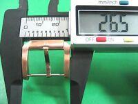 Bulova Rose Gold Plated Buckle Men's Watch 21.00 Mm Lug X 26.50 Mm Width