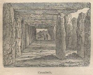 A0982 Cromlech - Stampa Antica Del 1911 - Xilografia Clair Et Distinctif