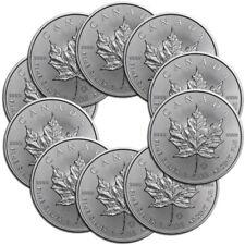 10x 1 oz Silber Maple Leaf 2019 - 5 Dollar Kanada Stempelglanz Silbermünze 999,9