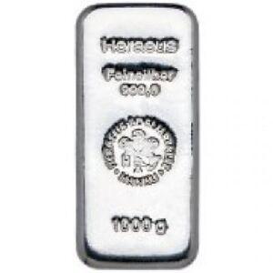 Lingot D Argent 999 1000 1 000 Grammes Silver Bar Ebay