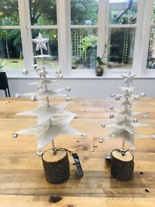 Silver Star Tabletop Christmas Tree