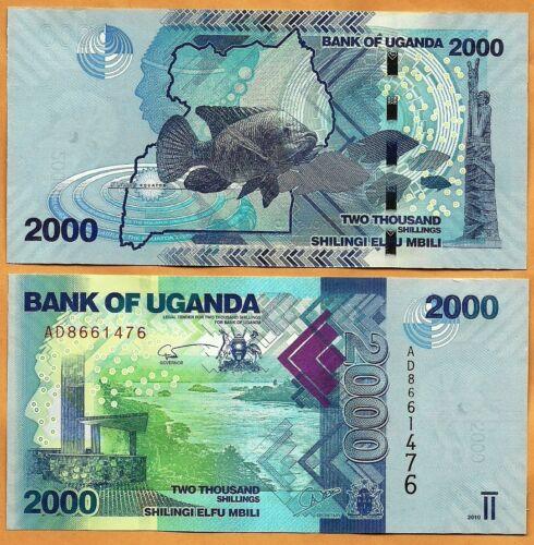50 UGANDA 2010 UNC 2000 Shillings Banknote Paper Money Bill P