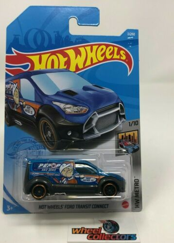 Blue Ford Transit Connect #7 2021 Hot Wheels Case A WF17