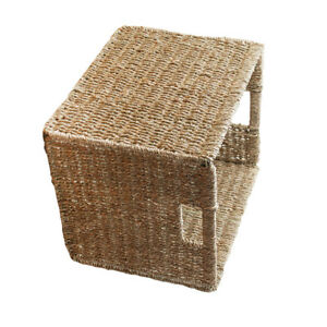 Seagrass Wicker Storage Basket - Bedroom, Kitchen, Office, Display ...