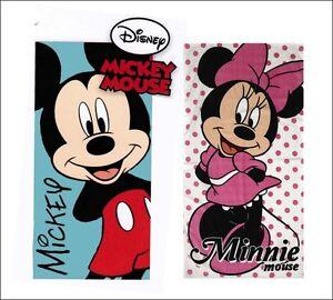 Disney Mickey Minnie Mouse Children's Pink Blue Beach Bath Towel Girls Boys
