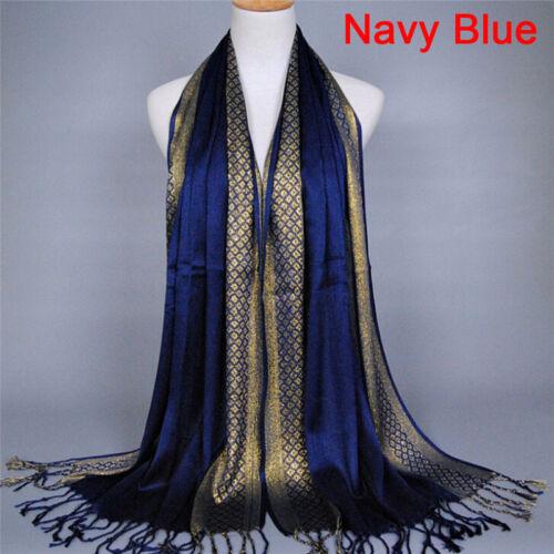 Cotton Tassel Long Hijab Pashmina Shawl Scarf Scarves Stole Wrap Fashion Wom LL