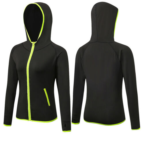 Women/'s Athletic Workout Tops With zippers Hoodies Dri fit Running Jogging Wear